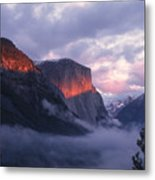 Alpen Glow On El Capitan Metal Print