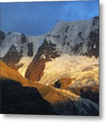 Alpenglow On The Swiss Alps Near Murren Metal Print