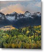 San Juan Mountains Fall Colors Sunrise Metal Print