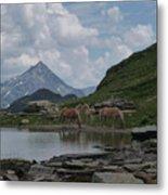 Alps' Horses Metal Print