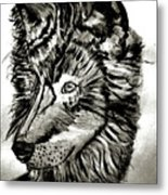 Alpha Male - The Wolf Metal Print