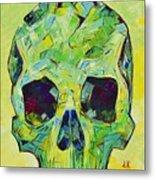 Alpha Skull Metal Print