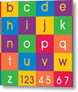 Alphabet Colors Metal Print by Michael Tompsett