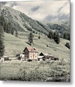 Alpine Farm Metal Print