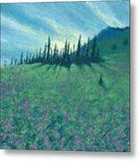 Alpine Hillside Metal Print