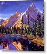 Alpine Lake Mist Metal Print