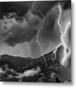 Alpine Lightning Metal Print