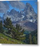 Alpine Sentinels Metal Print