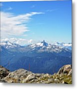 Alpine View In Canada Metal Print