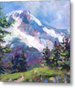 Alpine View Metal Print