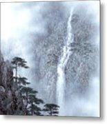 Alpine Waterfall Metal Print