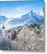 Alpine Winterdreams Metal Print