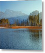 Alplake Winter Version Metal Print