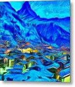 Alps Of Switzerland - Pa Metal Print