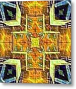 Altar Cross Tapestry Metal Print