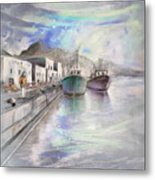 Altea Harbour On The Costa Blanca 01 Metal Print