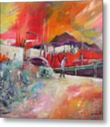 Altea Harbour Spain Metal Print