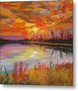 Alton Mill Summer Sunset Metal Print