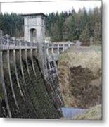 Alwen Reservoir Dam Metal Print