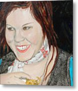 Alyssa Smiles Metal Print