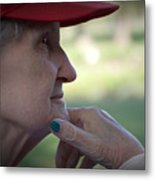 Alzheimer's The Aging Of A Lady Metal Print