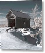 A.m. Foster Covered Bridge Infrared Metal Print