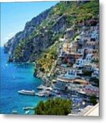 Amalfi Coast, Positano, Italy Metal Print