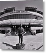 Amalie Arena Black And White Metal Print
