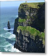 Amazing Look At The Sea Cliff's Of Moher In Ireland Metal Print