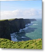 Amazing Scenic Views Of The Cliff's Of Moher Metal Print