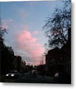 Amazing Sky With The Moon Metal Print