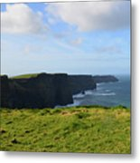 Amazing Views Of The Cliff's Of Moher In Ireland Metal Print