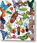 Amazon Insects Metal Print