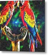 Amazon Parrotts Metal Print
