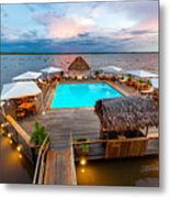 Amazon Swimming Pool Metal Print