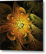 Amber Light Metal Print