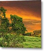 Amber Skies Metal Print