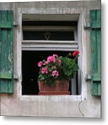 Amberg Window Metal Print