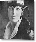 Amelia Earhart, Us Aviation Pioneer Metal Print by Science, Industry & Business Librarynew York Public Library