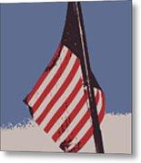 Amercan Flag Metal Print