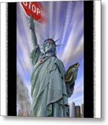 America On Alert II Metal Print