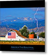 America The Beautiful Poster Metal Print