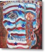 America Under Fire Metal Print
