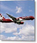 America West Boeing 757 Arizona Cardinals Metal Print