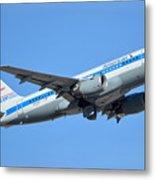 American Airbus A319-0112 N744p Retro Piedmont Pacemaker Phoenix Sky Harbor January 21 2016 Metal Print