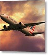 American Airlines 767 N345an Metal Print