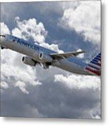American Airlines Airbus A321 Metal Print