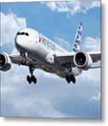 American Airlines Boeing 787 Dreamliner Metal Print