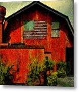 American Barn Metal Print
