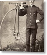 American Bicyclist, 1880s Metal Print